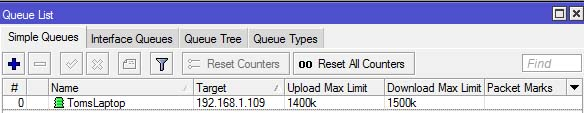 Steps to Configure per IP bandwidth on a Mikrotik Router